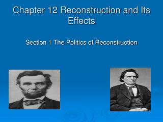 Chapter 12 Reconstruction and Its Effects