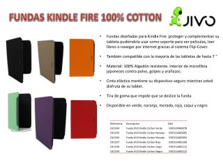 FUNDAS KINDLE FIRE 100% COTTON