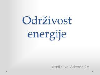 Održivost energije