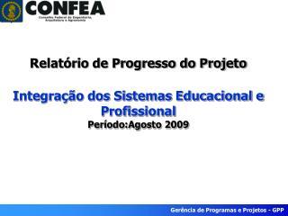 Nome do Projeto  –  Integração dos Sistemas Educacional e               Profissional