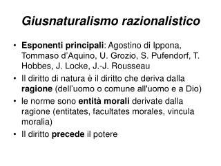 Giusnaturalismo razionalistico