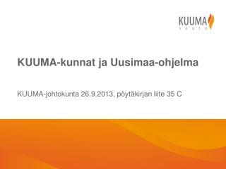 KUUMA-kunnat  ja Uusimaa-ohjelma