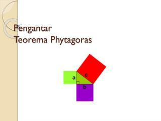 Pengantar Teorema  Phytagoras