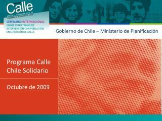 Gobierno de Chile – Ministerio de Planificación