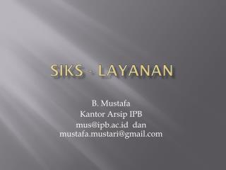 SIKS - LAYANAN