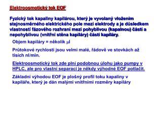 Elektroosmotický tok EOF