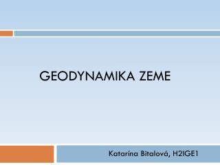 Geodynamika  Zeme
