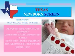 Texas  Newborn Screen