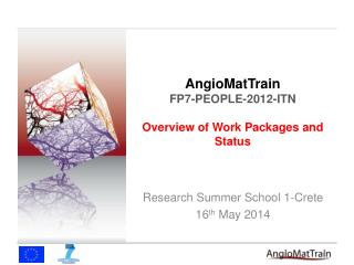 AngioMatTrain FP7-PEOPLE-2012-ITN Overview of Work Packages and Status