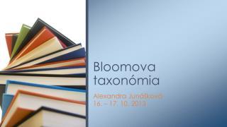 Bloomova  taxonómia