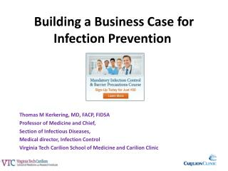 Building a Business Case for Infection Prevention