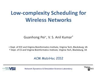 Low-complexity Scheduling for Wireless Networks