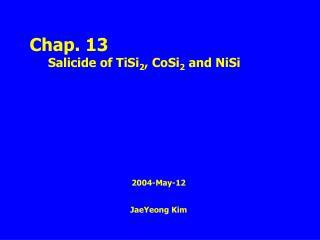 2004-May-12  JaeYeong Kim