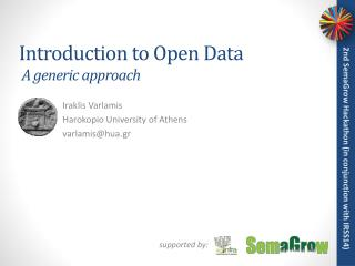 Introduction to Open Data  A generic approach