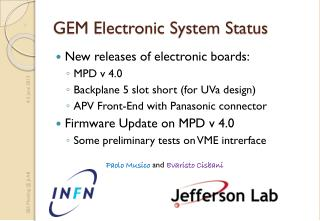 GEM Electronic System Status