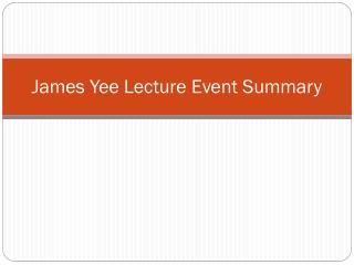 James Yee Lecture Event Summary