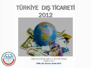 TÜRKİYE  DIŞ TİCARETİ 2012