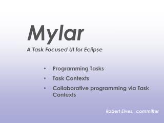Programming Tasks Task Contexts  Collaborative programming via Task Contexts