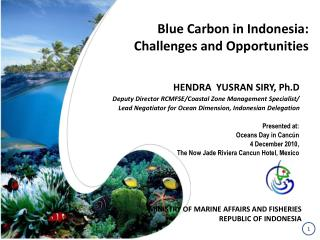 Blue Carbon in Indonesia:  Challenges and Opportunities