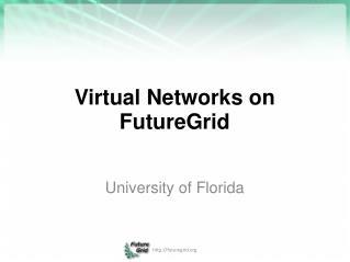 Virtual Networks on FutureGrid