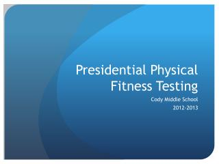 Presidential Physical Fitness Testing
