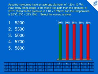 Assume molecules have an average diameter of 1.20 x 10-10m. How many times larger is the mean free path than the diamete
