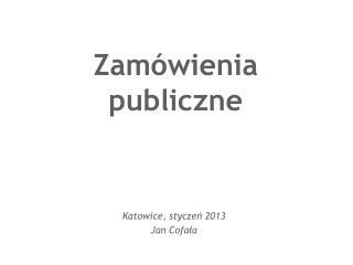 Zam�wienia publiczne