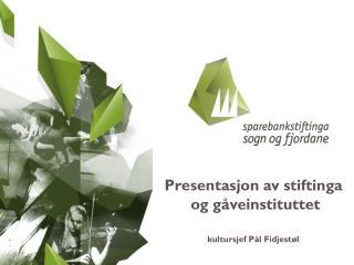 kultursjef Pål Fidjestøl