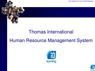 Thomas International Human Resource Management System