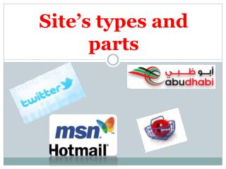 Site's types and parts