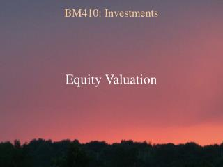 BM410: Investments