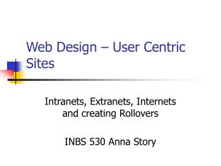 Web Design   User Centric Sites