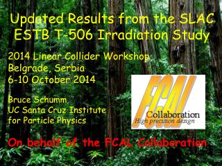 Updated Results from the SLAC ESTB T-506 Irradiation Study 2014 Linear Collider Workshop