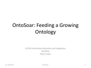 OntoSoar: Feeding a Growing Ontology
