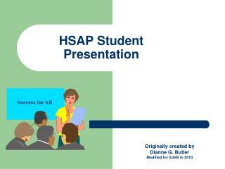 HSAP Student Presentation