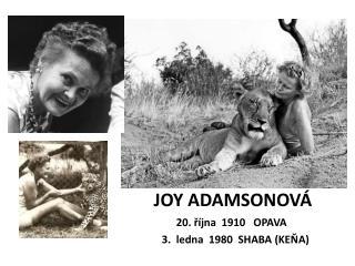 JOY ADAMSONOVÁ
