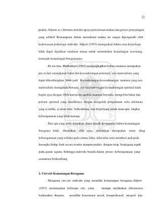 22 praktis. Inform as i diterima melalui upaya pencernaan makna dan proses penyaringan