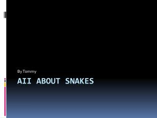 AII about Snakes