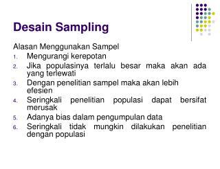 Desain Sampling