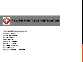 P13026: Portable Ventilator