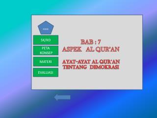 BAB : 7 ASPEK   AL QUR'AN Ayat-ayat  al  qur'an TENTANG  DEMOKRASI