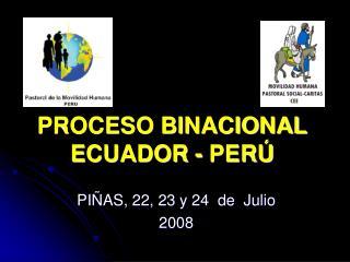 PROCESO BINACIONAL ECUADOR - PER