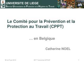 Le Comité pour la Prévention et la Protection au  Travail  (CPPT)