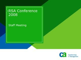 RSA Conference 2008