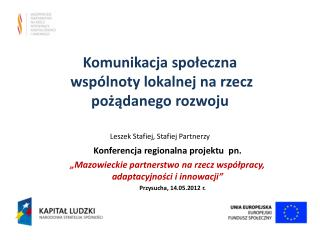Konferencja regionalna projektu  pn.