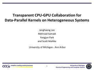 Transparent CPU-GPU Collaboration for Data-Parallel Kernels on Heterogeneous Systems