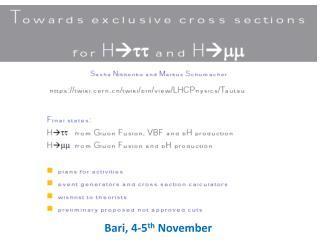 Bari, 4-5 th  November