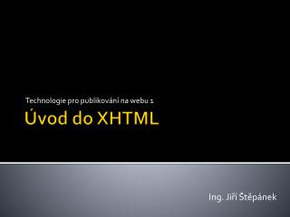 Úvod do XHTML