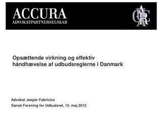 Opsættende virkning og effektiv håndhævelse af udbudsreglerne i Danmark