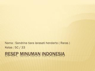 Resep Minuman Indonesia